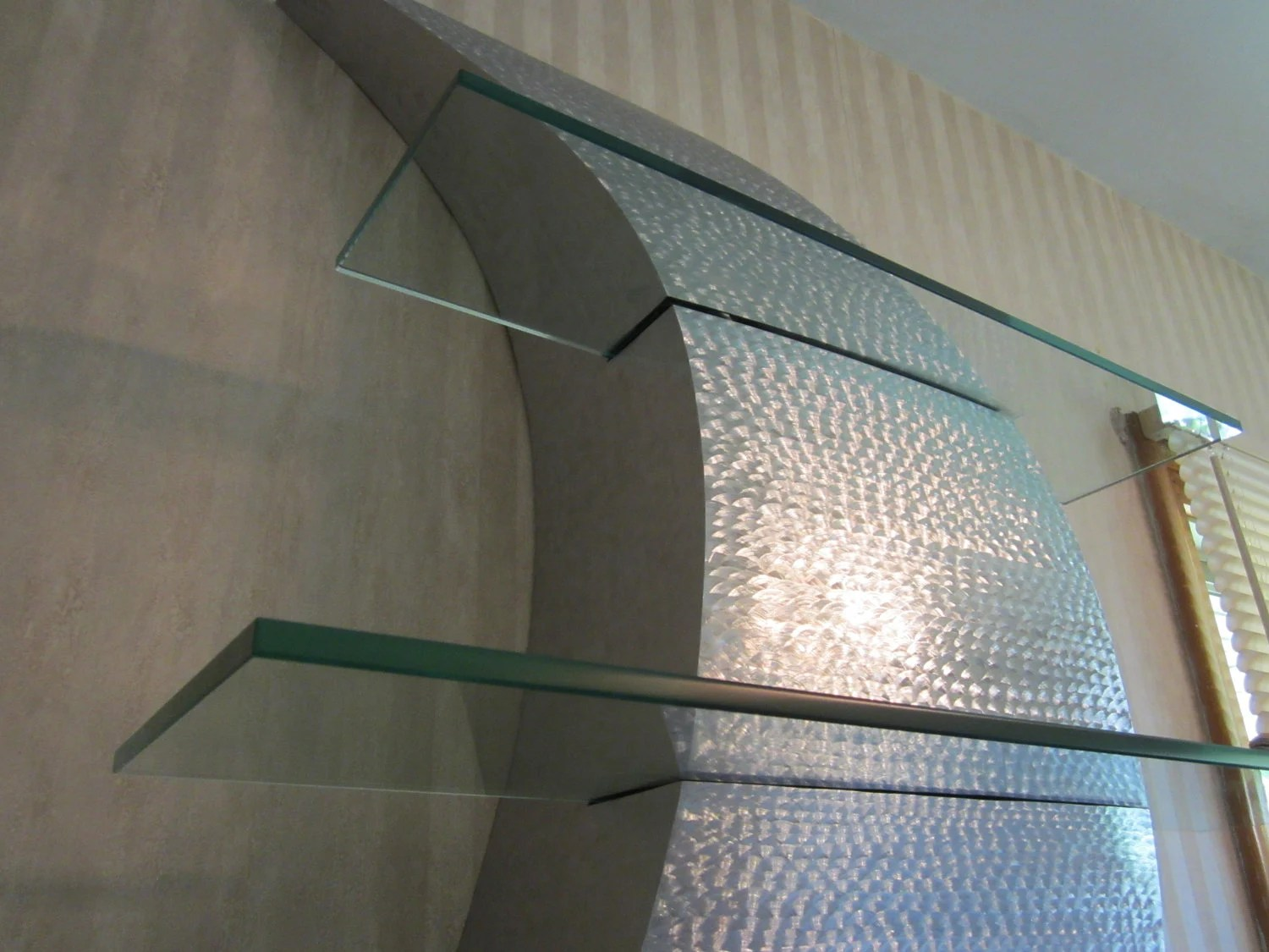 Best Metal Wall Art Curves Decor Stainless Steel Shelf This Month
