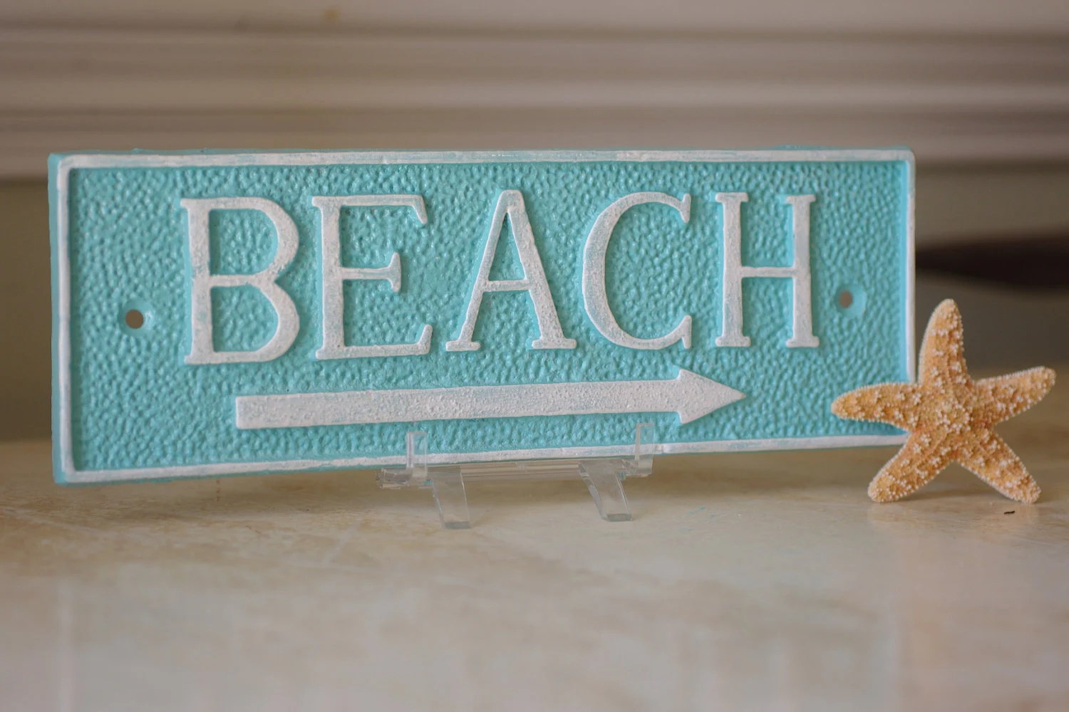 Best Coastal Decor Cast Iron Rectangle Beach Sign Wall Decor Pick This Month