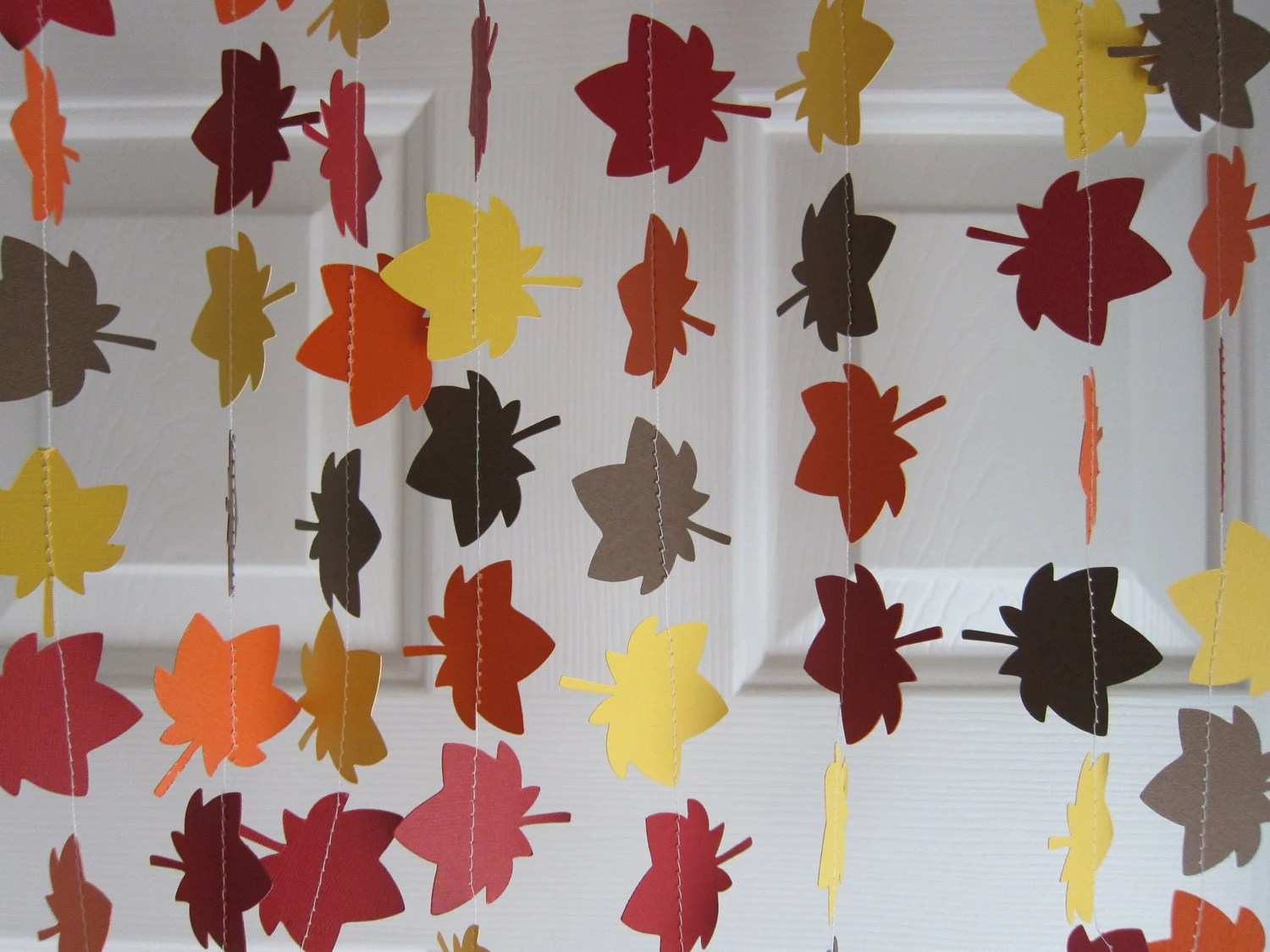 Best Fall Garland Leave Garland Autumn Decorations Thanksgiving This Month
