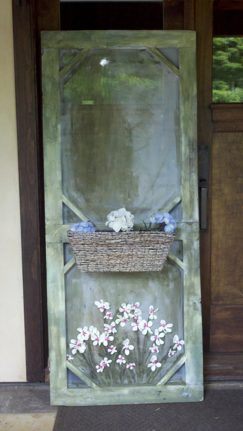 Best Old Screen Door Decorative With A Planter Box On The Front This Month