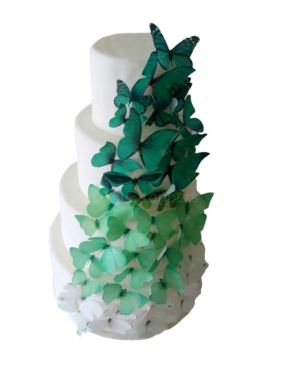 Best Edible Cake Toppers 40 Ombre Edible Butterflies In Green This Month