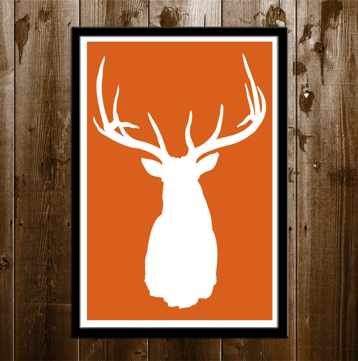 Best Elk Silhouette Hunting Wall Decor Printable By This Month