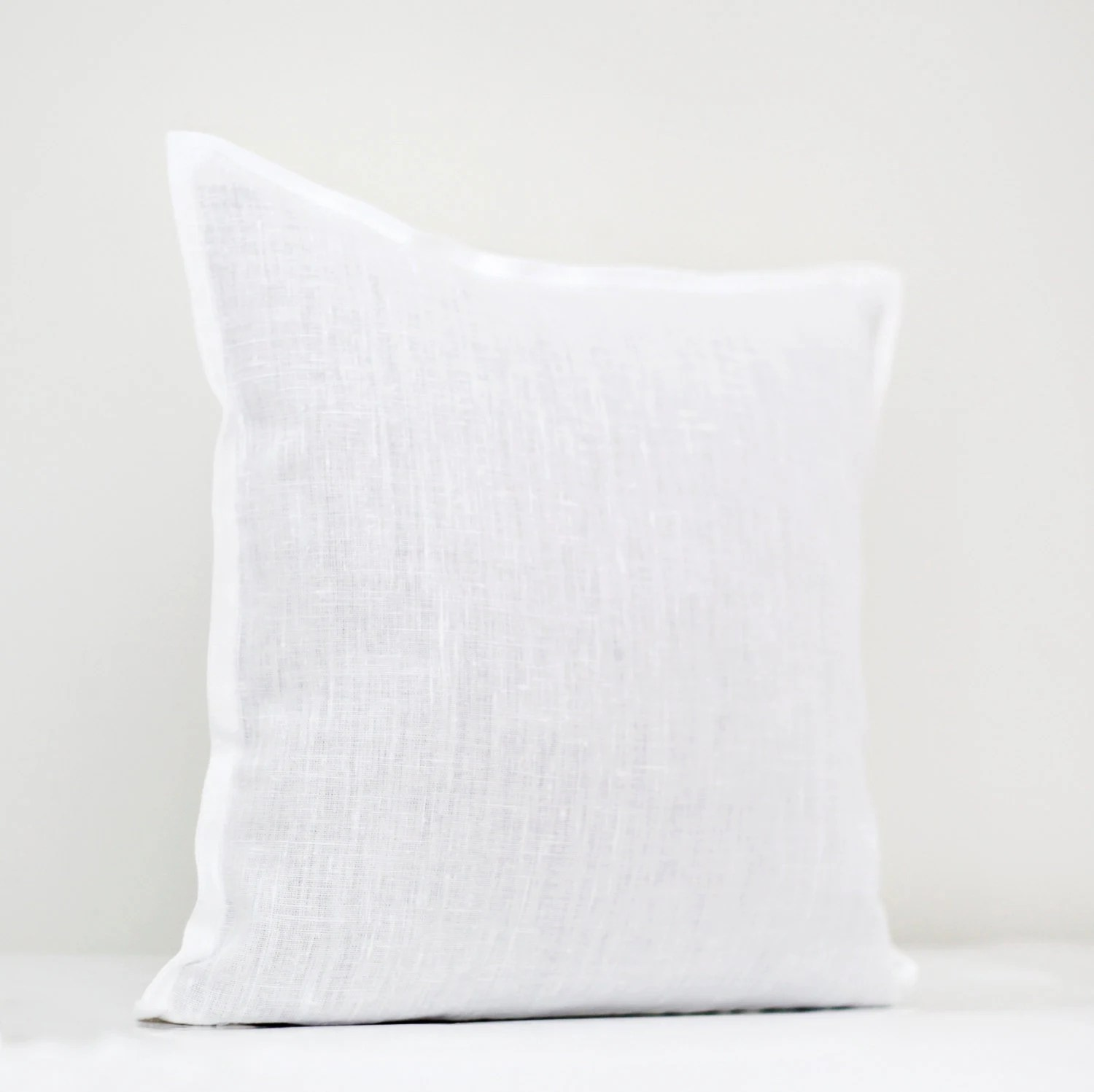 Best White Linen Pillow Cover White Pillow White Decorative This Month