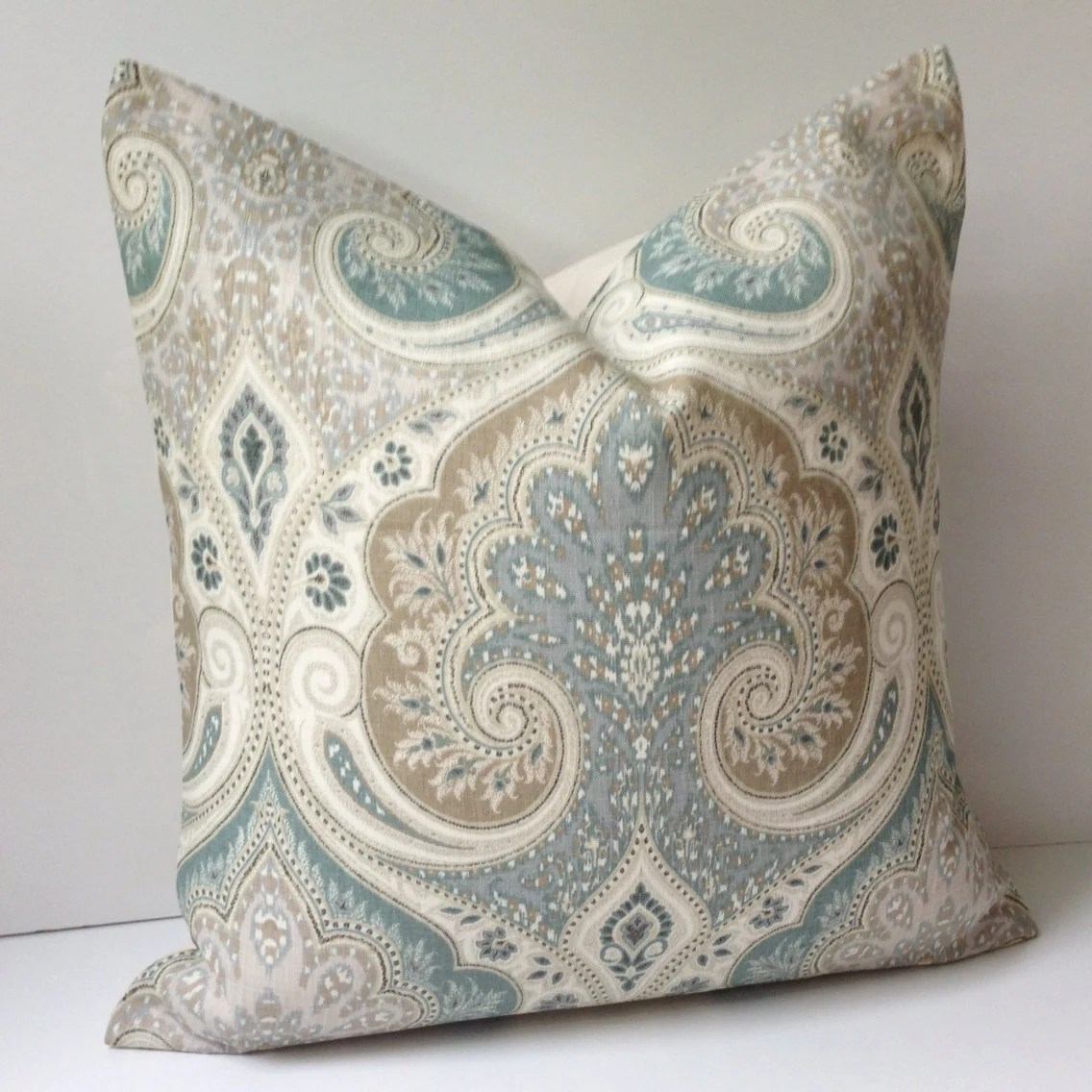 Best Damask Pillow Cover Decorative Throw Pillow Seafoam Cushion This Month