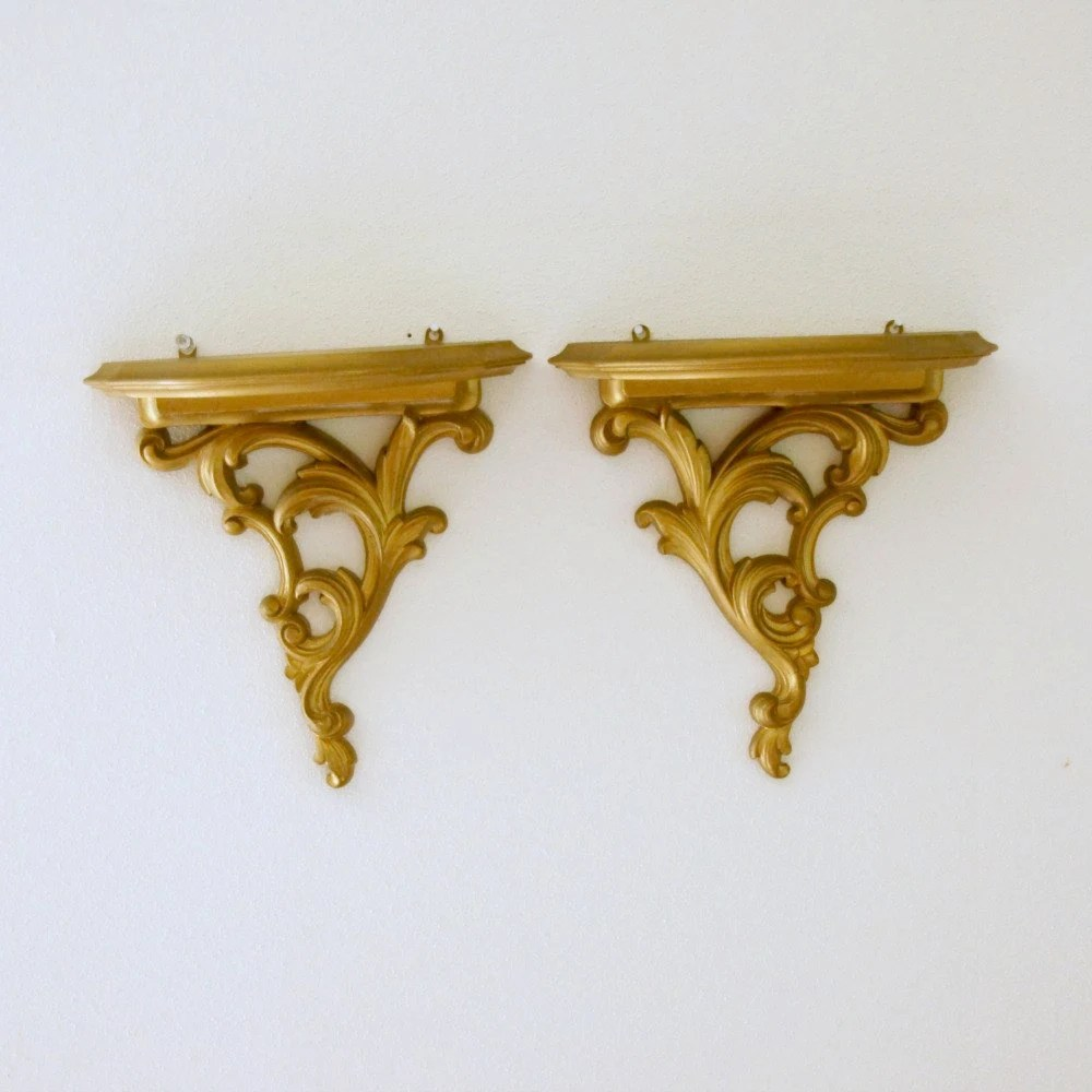Best Wall Decor Syroco Wood Shelves Sconces Gold Hollywood This Month