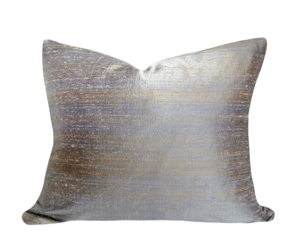Best Blue Silk Throw Pillow 16X20 Contemporary Decorative Pillow This Month