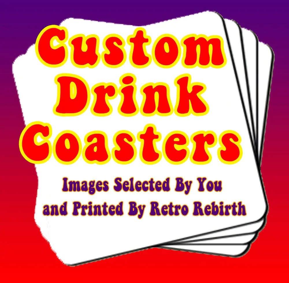 Best Coasters Custom Order Drink Coaster Set Personalized Drink This Month