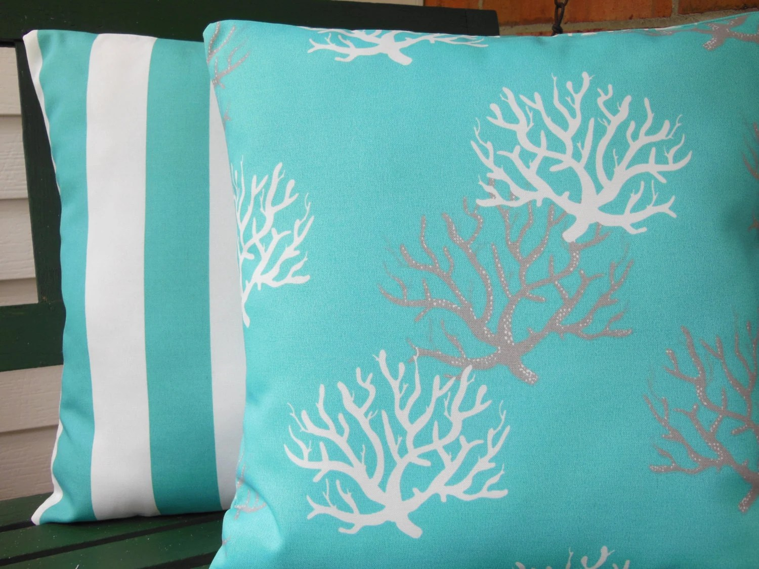 Best Outdoor Aqua Decorative Throw Pillows Nautical Aqua By This Month