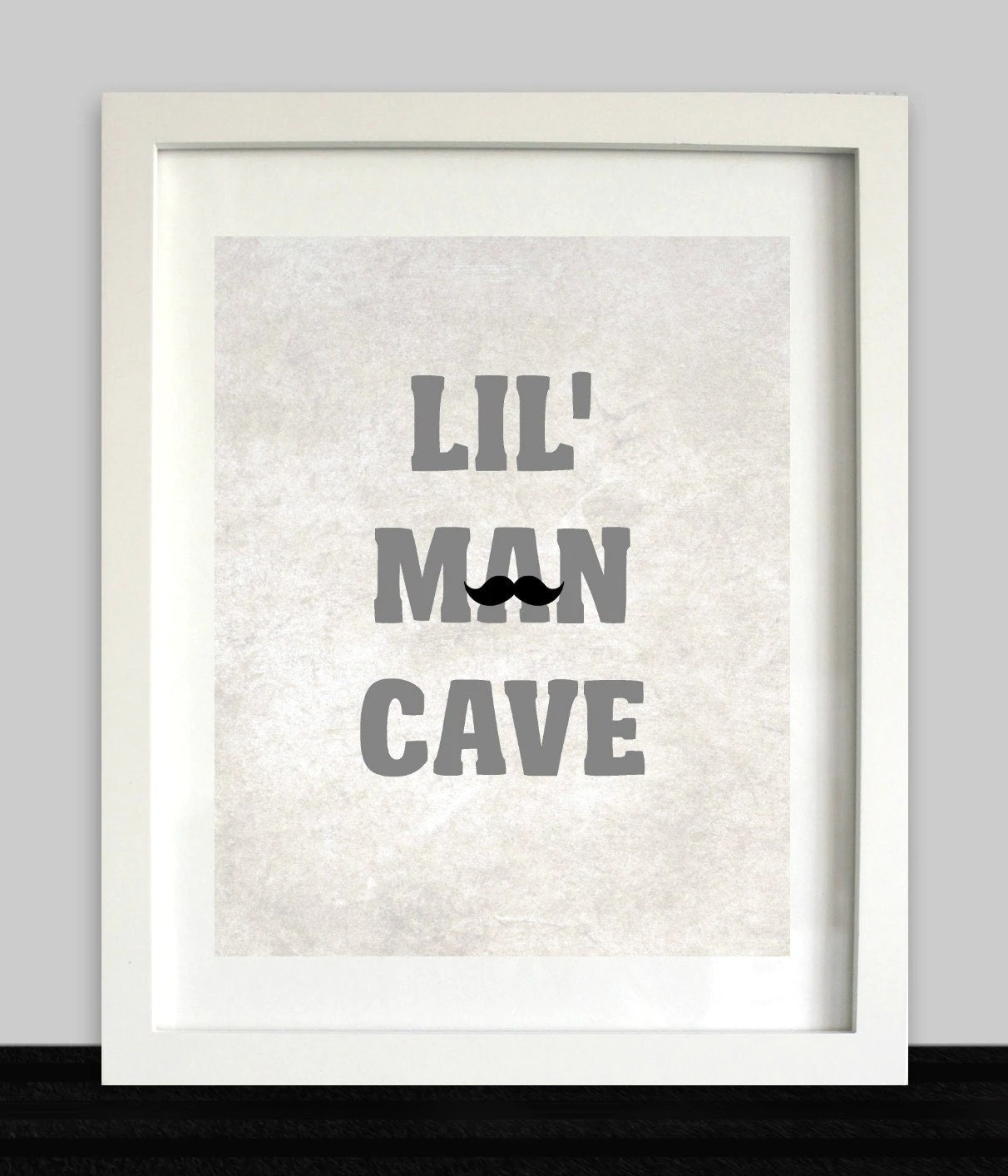 Best Lil Man Cave Print Boys Wall Art Nursery Prints Baby This Month