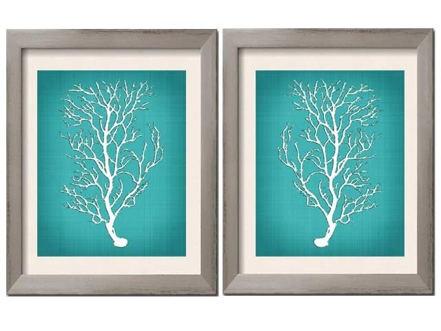 Best Beach House Decor Teal Wall Art Teal Art Teal White Teal This Month Original 1024 x 768