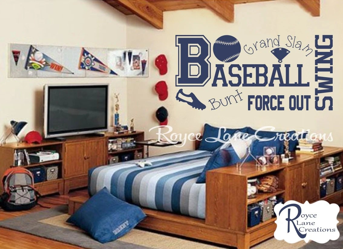 Best Baseball Wall Decal B13 Sports Vinyl Wall Decal Baseball Boys This Month