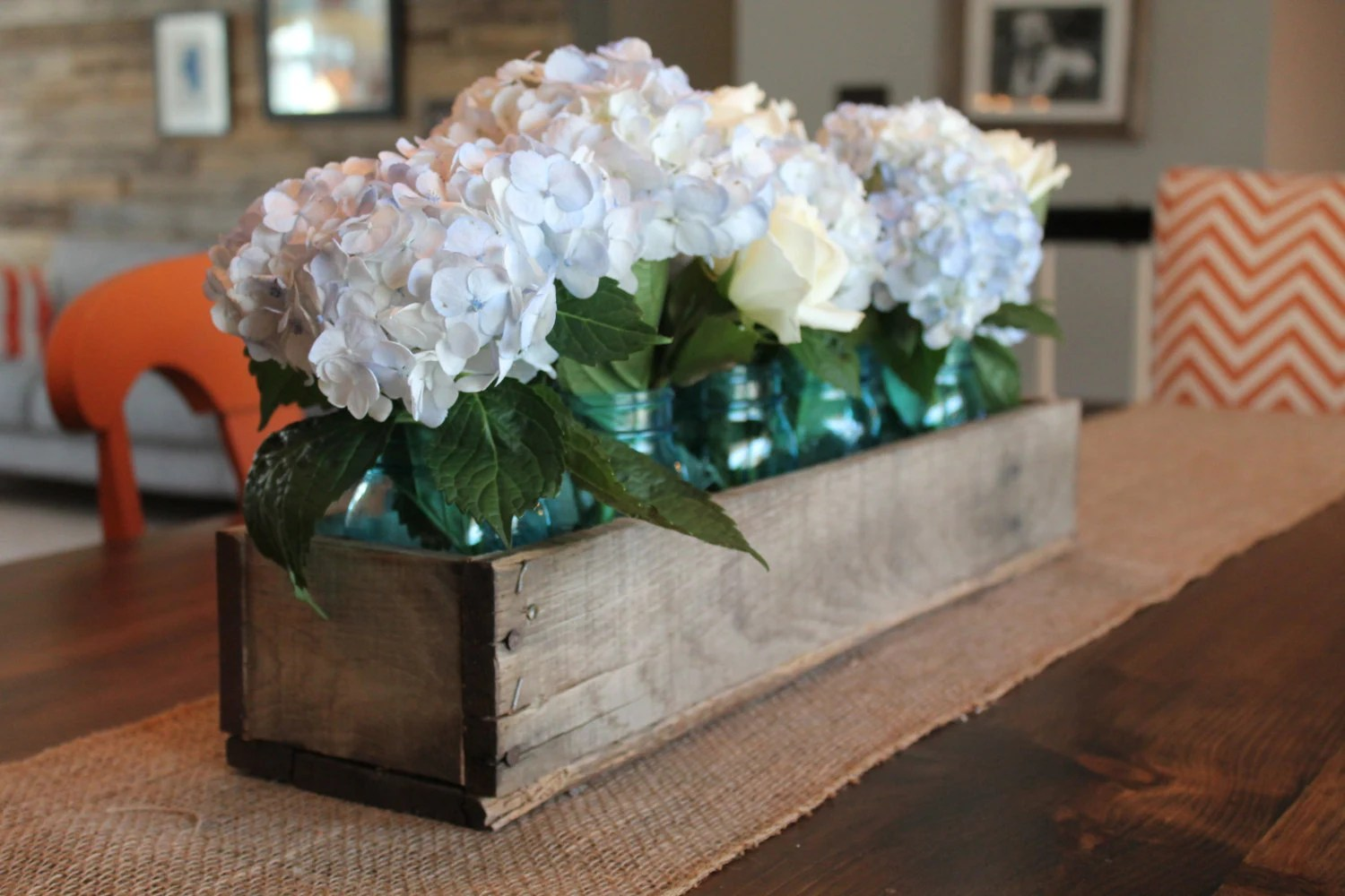 Best Rustic Wooden Planter Centerpiece Box Rustic Home Decor Wood This Month