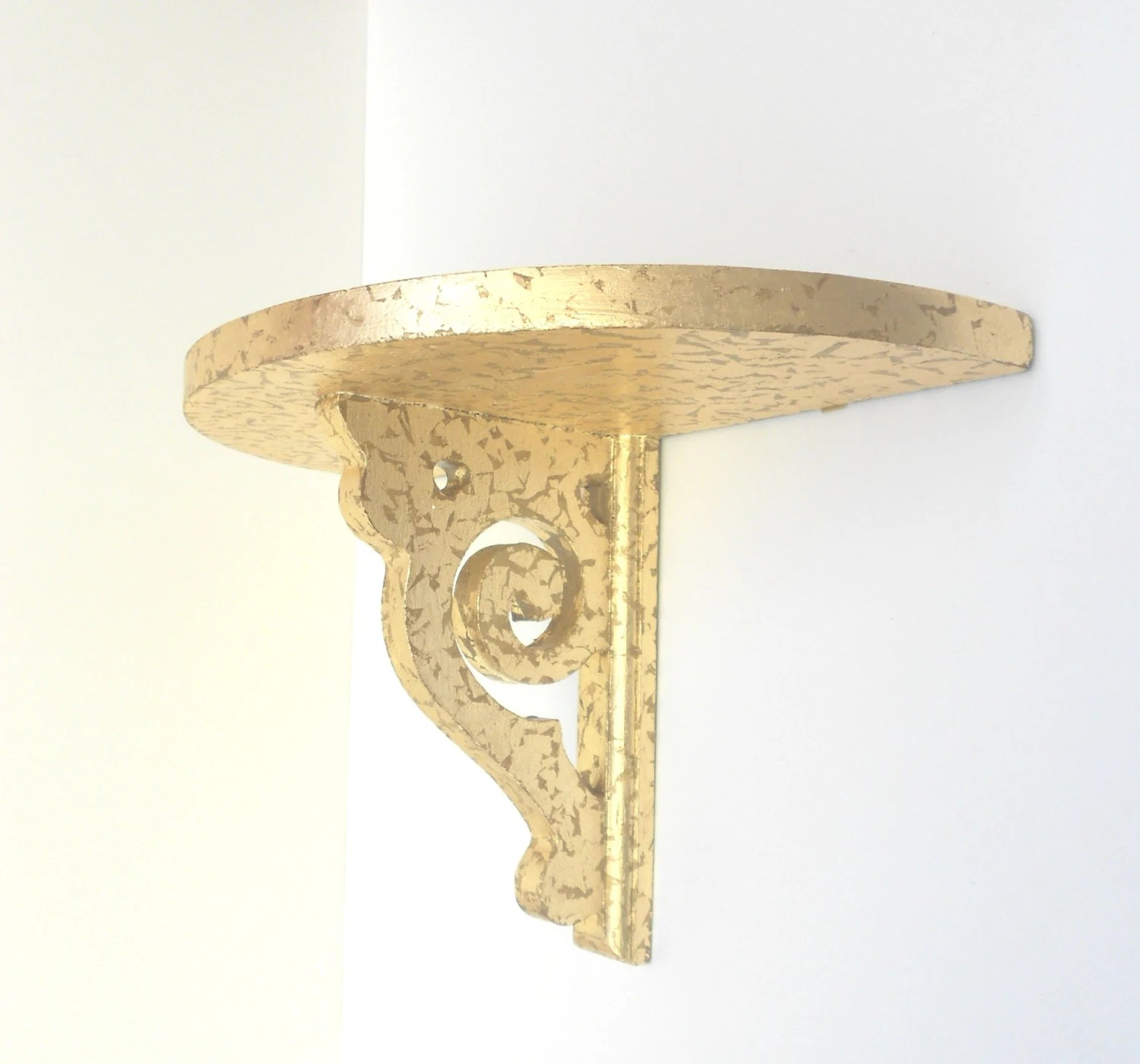 Best Shelf Sconcegold Leaf Decorative Wall Sconce By Goldleafgirl This Month