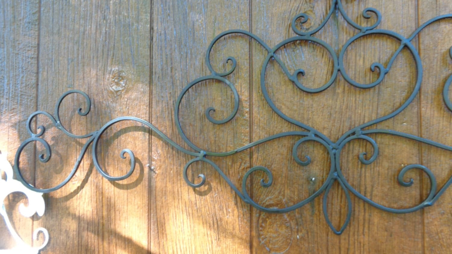 Best Wrought Iron French Chic Scrolled Flat Black Wall Decor Faux This Month