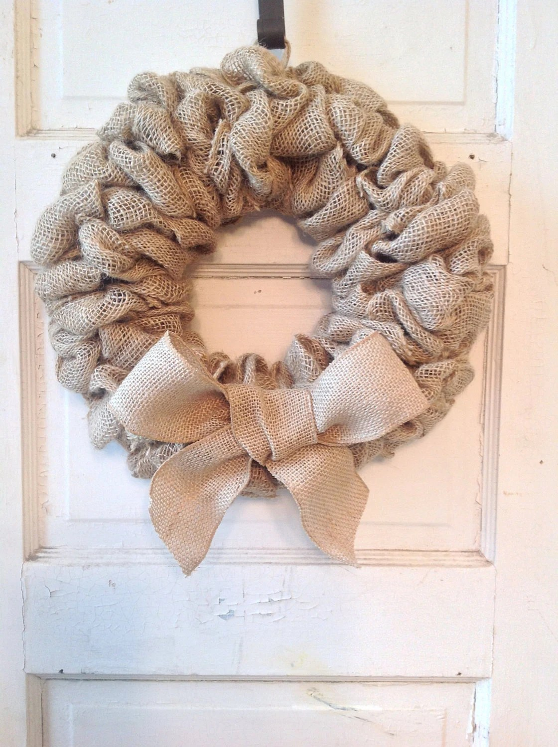 Best Burlap Wreath With Bow Burlap Home Decor Front Door This Month
