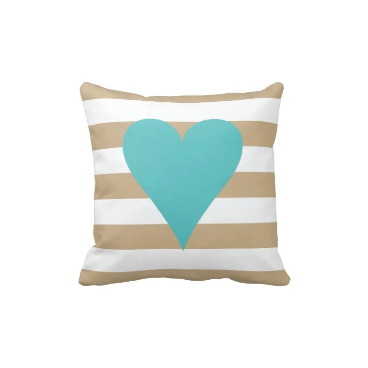 Best Preppy Thick Striped Heart Throw Pillow This Month