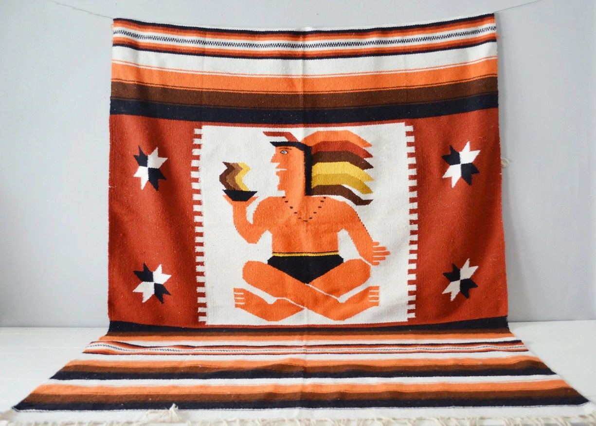 Best Items Similar To Aztec Blanket Home Decor Aztec Rug This Month
