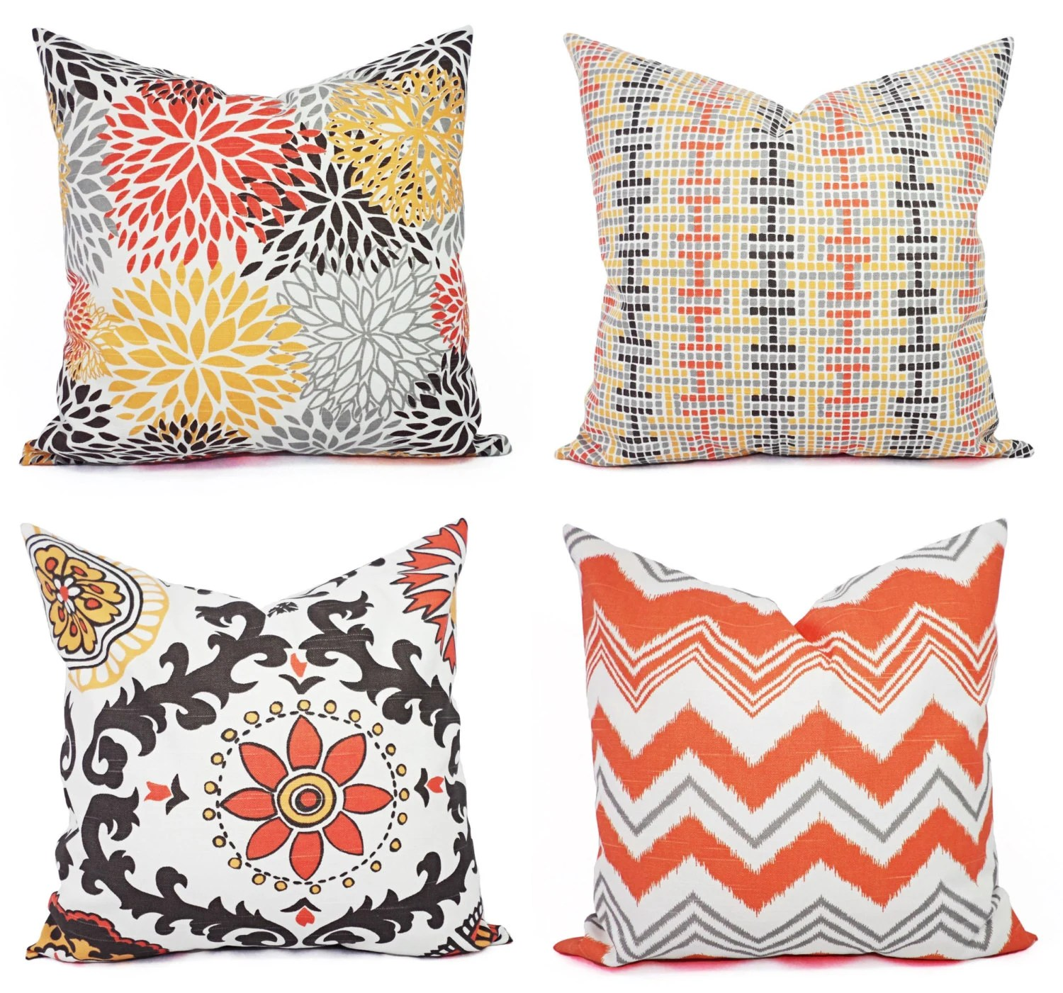 Best Throw Pillow Cover Orange Brown And Beige Decorative Pillow This Month