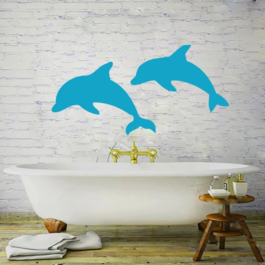 Best Wall Decals Dolphin Decal Vinyl Sticker Bathroom By Cozydecal This Month