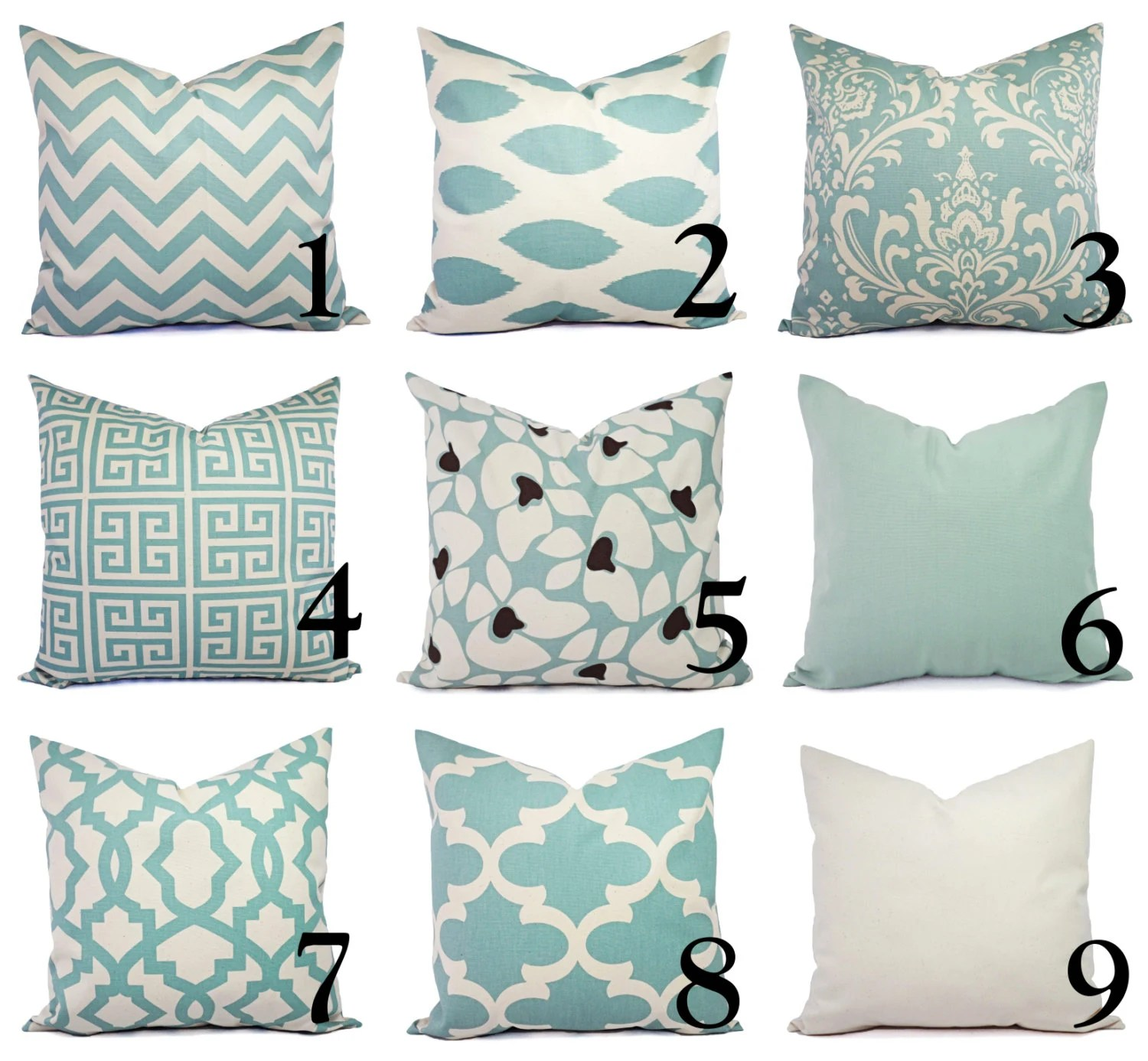 Best One Spa Blue And Beige Pillow Covers Throw Pillow Covers This Month