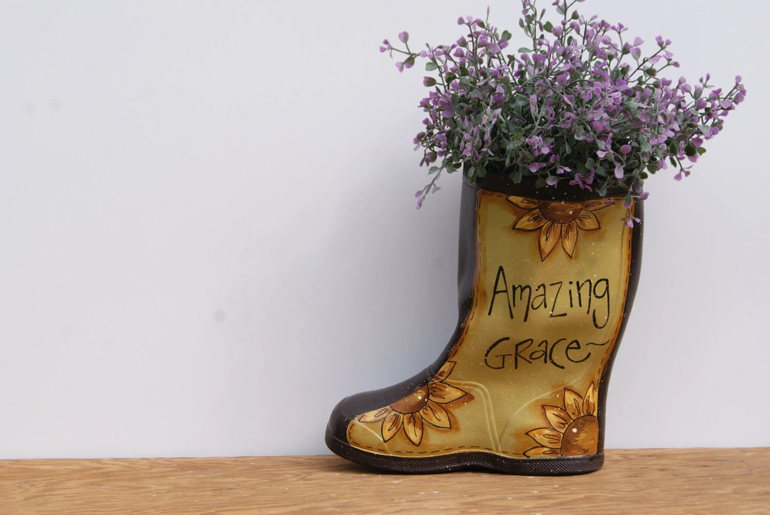 Best Rain Boot Planter Hand Painted Country Home Decor By This Month