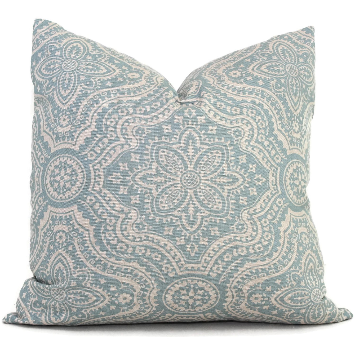 Best Aqua And Gray Damask Decorative Pillow Cover Square Eurosham This Month