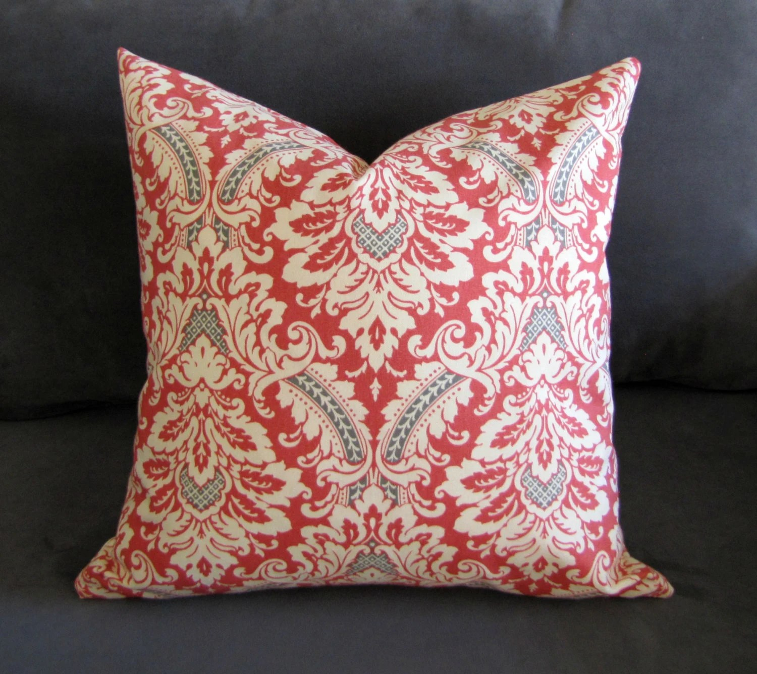 Best Burnt Orange Throw Pillow Damask Print Sofa Pillow With Gray This Month