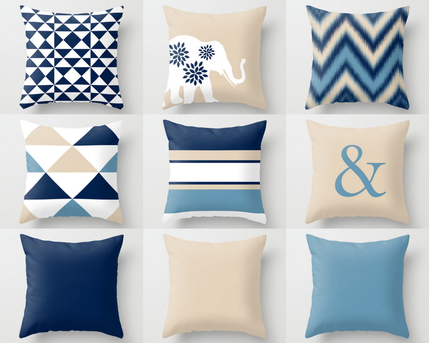 Best Navy Beige Pillow Covers Throw Pillows Decorative Pillow This Month