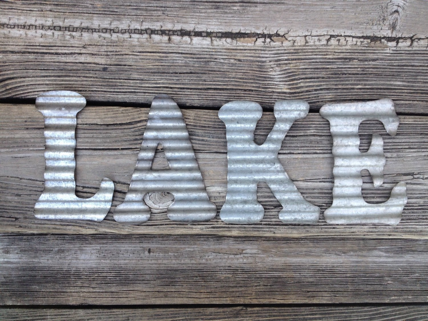 Best Galvanized Metal Letters Lake Industrial Wall Decor Kitchen This Month