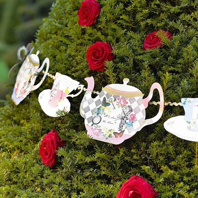 Best Alice In Wonderland Decorations Alice Bunting Alice Garland This Month