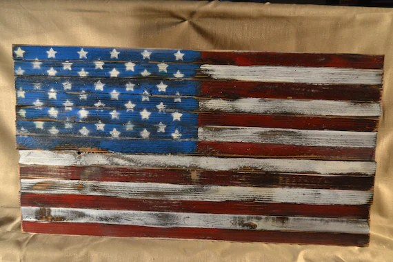 Best Items Similar To Rustic Wooden American Flag Wall This Month