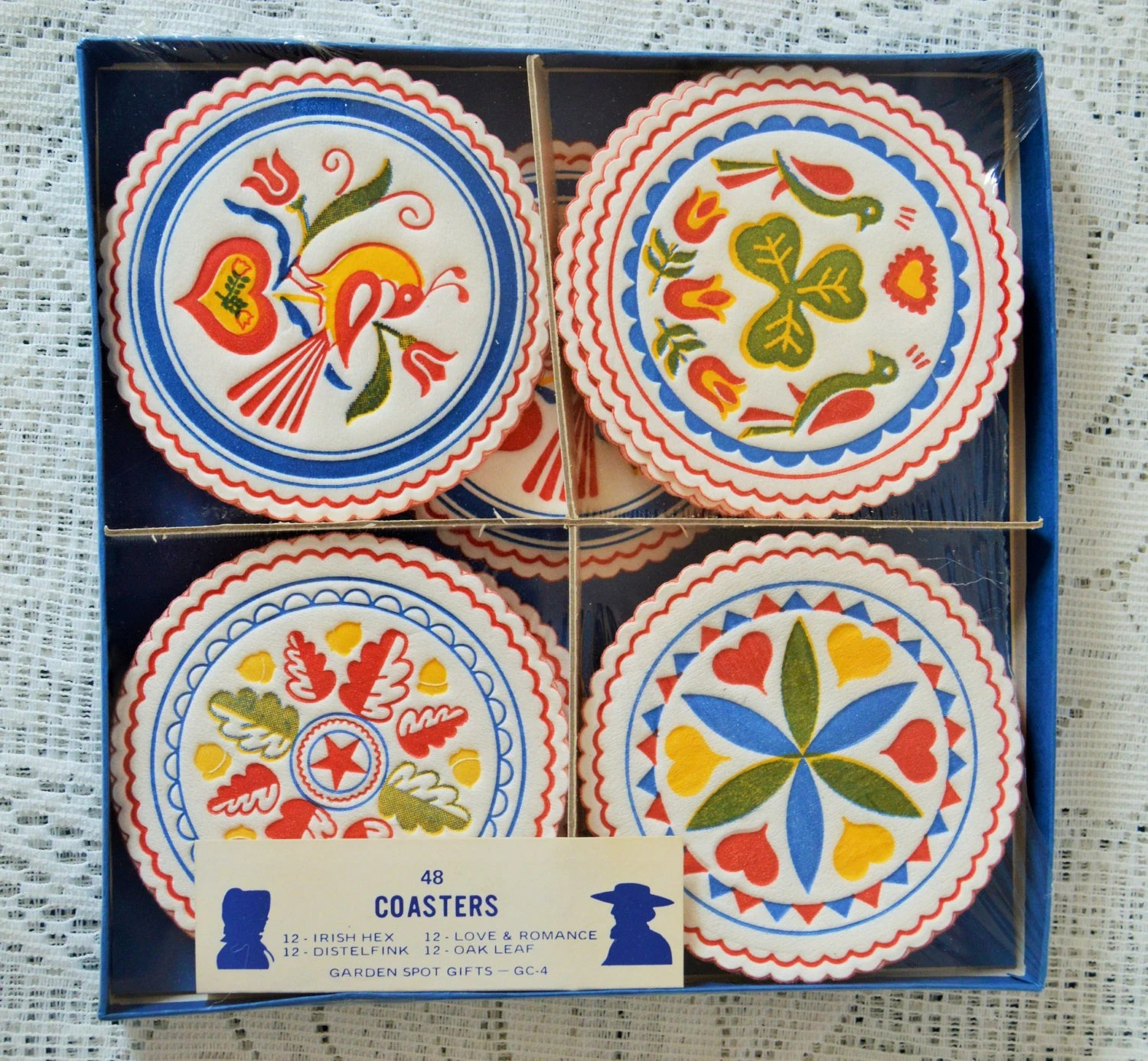 Best Vintage Decorative Paper Coasters Pyrex Inspired By Garden This Month