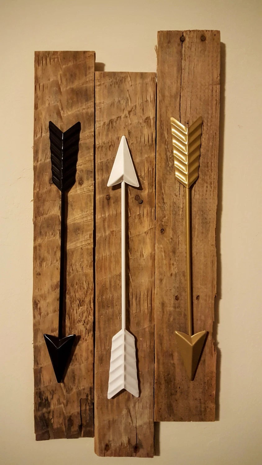 Best Bedroom Decor Arrow Wall Decor 3 Metal Arrows On Reclaimed This Month