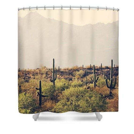 Best Cactus Shower Curtain Desert Home Decor By Sylviacphotography This Month