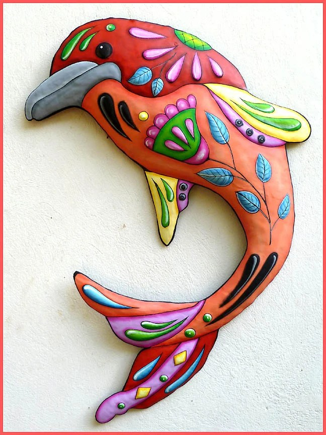 Best Painted Metal Dolphin Wall Hanging Metal Wall Decor Metal This Month