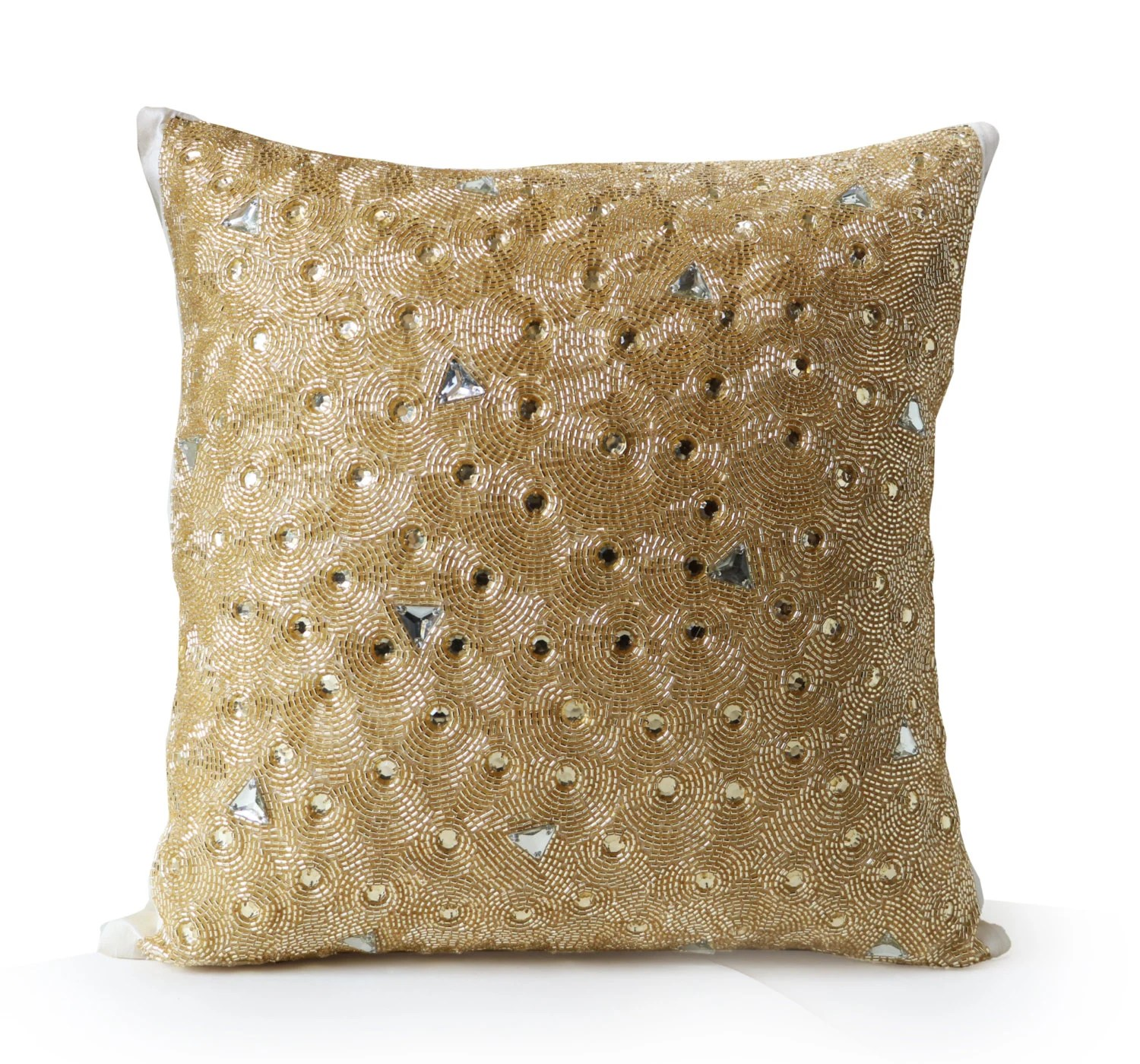 Best Items Similar To Gold Throw Pillow Beaded Pillows This Month