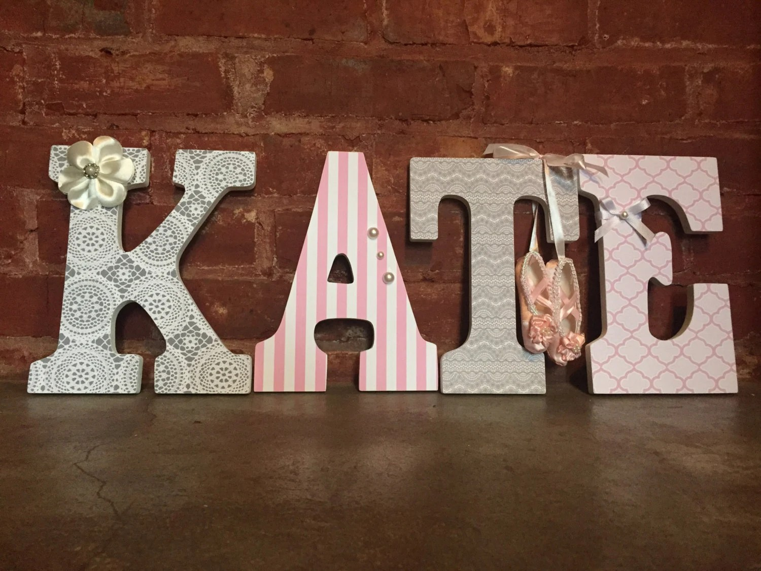 Best Custom Decorative Wooden Letters Wooden Name Girls Room This Month