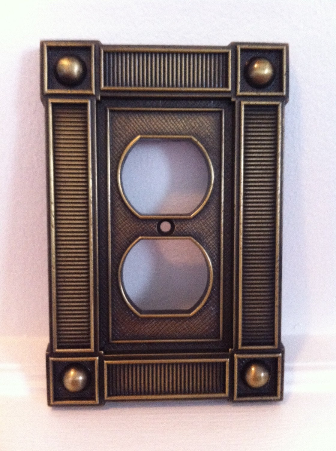 Best Vintage Outlet Cover Brass Decorative Electrical Plate This Month