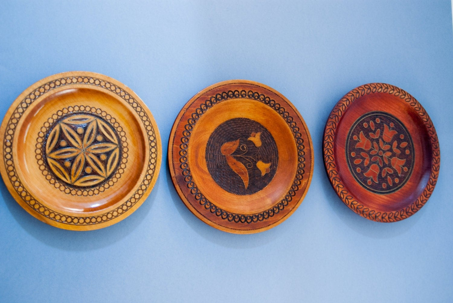 Best Decorative Wooden Plates Set Wall Hanging Plate Vintage Wall This Month