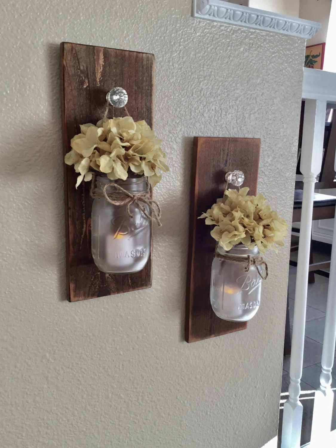Best Rustic Mason Jar Scone Set Wall Sconce Rustic Home Decor This Month