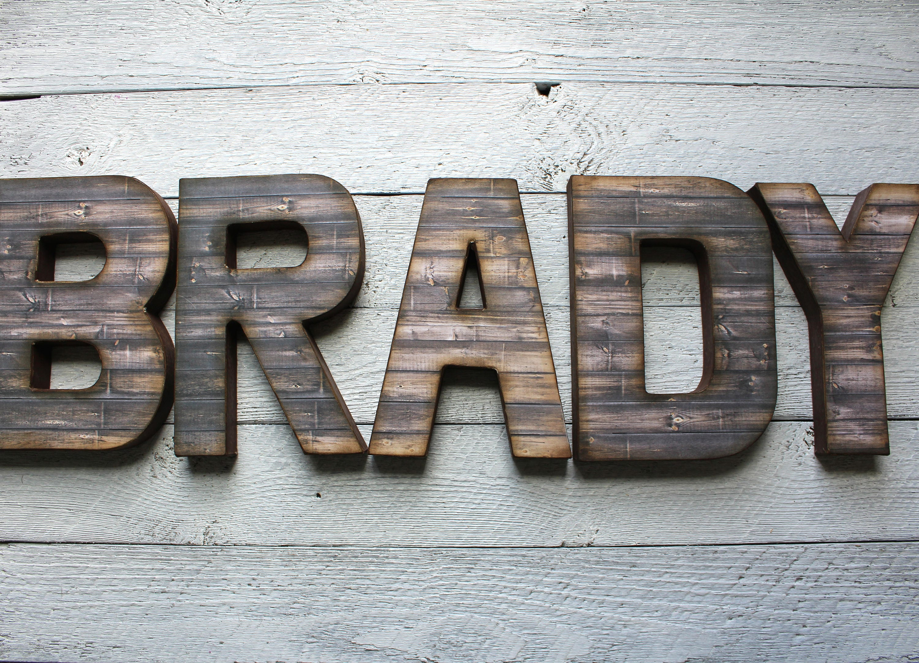 Best Rustic Home Decor Distressed Letters Wooden Letters This Month