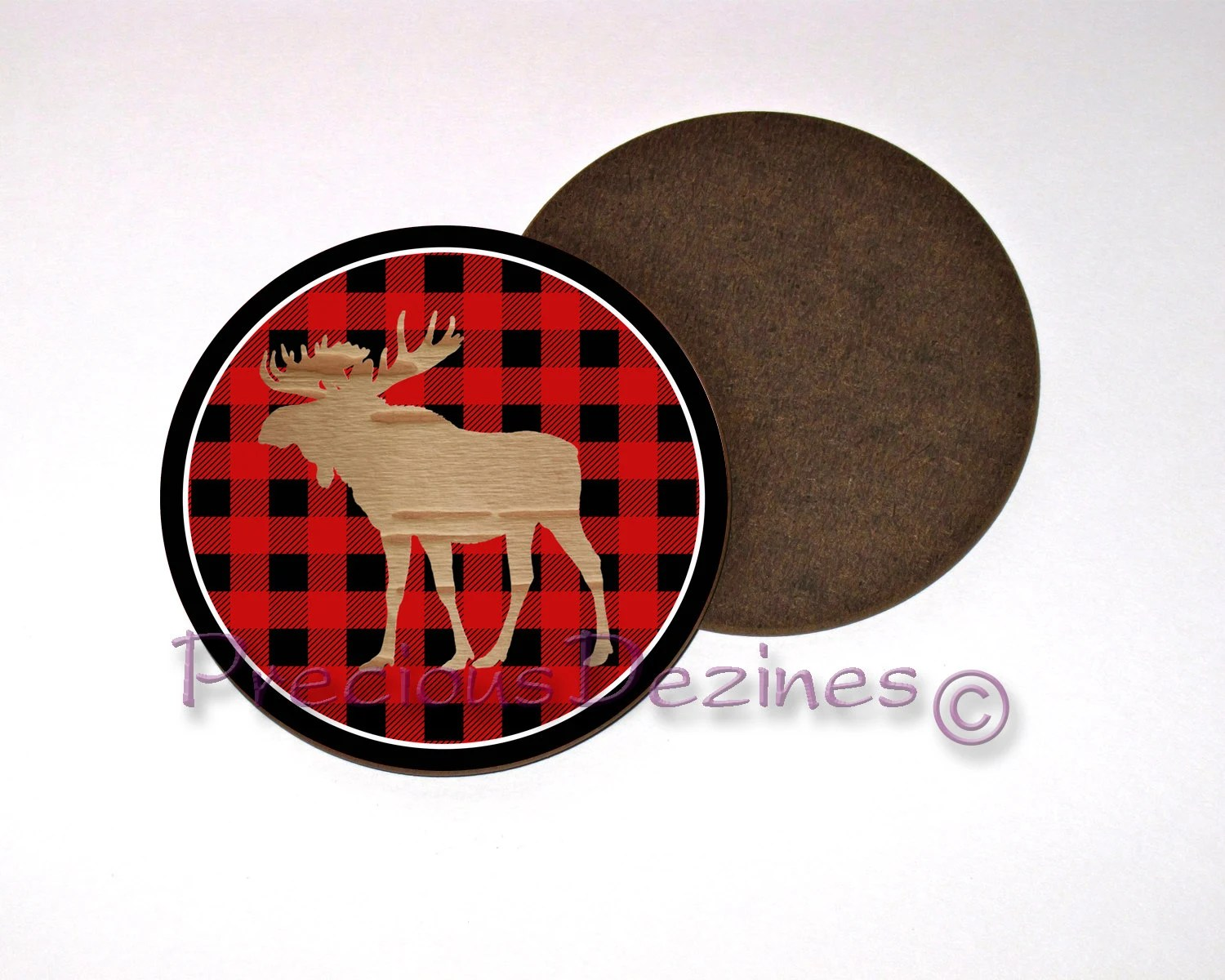 Best Moose Silhouette Decorative Drink Coaster Moose On This Month