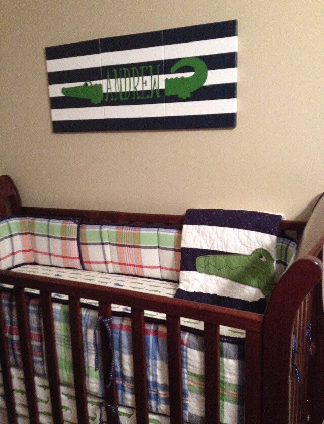 Best Personalized Alligator Painting Alligator Nursery Decor Etsy This Month