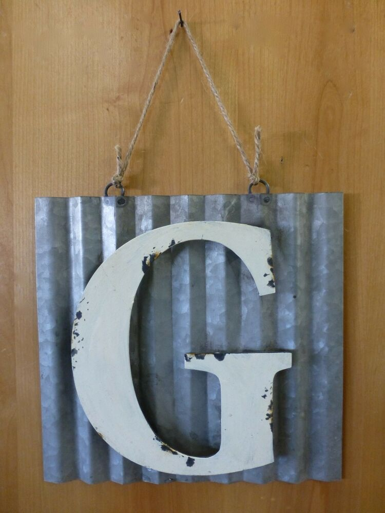 Best 10 Corrugated Industrial Metal Sign Letter G White This Month
