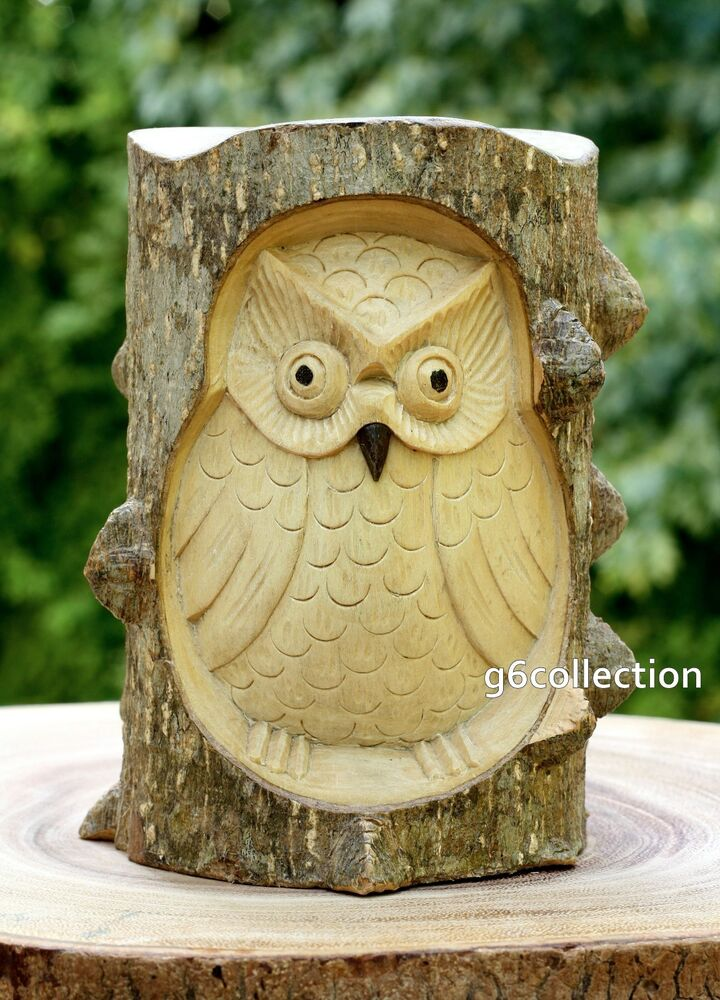 Best Unique Gift Hand Carved Wooden Owl Crocodile Wood Art Home This Month