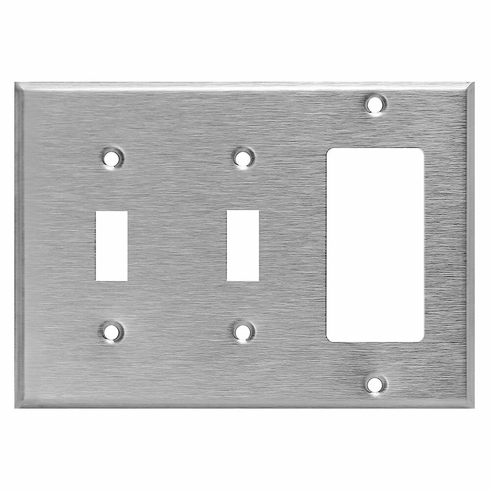 Best Stainless Steel Cover Toggle Switch Decorator Rocker This Month