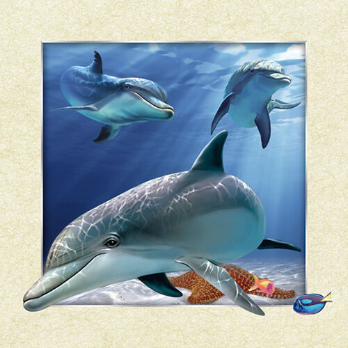 Best Dolphin Lenticular 3D Picture Animal Poster Painting Home This Month