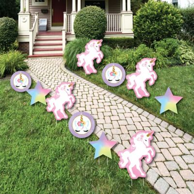 Best Rainbow Unicorn Star And Unicorn Lawn Decorations This Month
