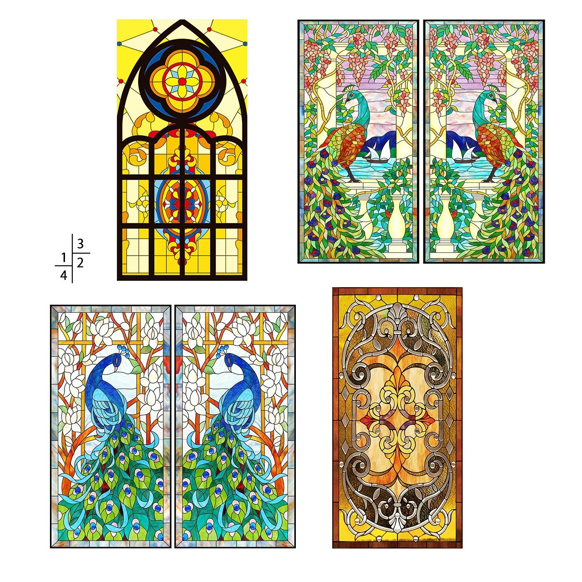 Best Vintage Flowers Stained Glass Decorative Window Film Cling This Month