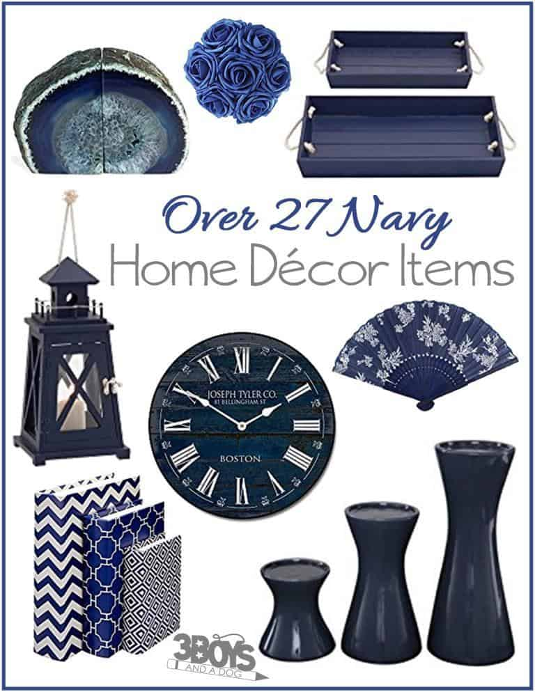 Best 27 Fun Navy Home Decor Pieces – 3 Boys And A Dog This Month